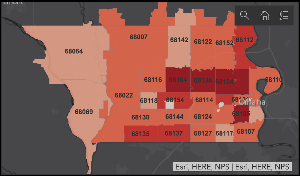Douglas County Zip Code Map Douglas County Stands Alone in Coronavirus Race Reporting   The Reader